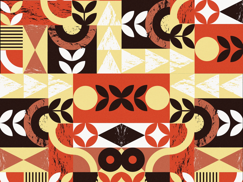 October vibes october pattern geometric graphic design