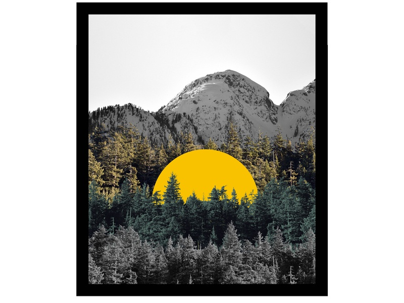 Glow photography photo mountain sticker design graphic design vancouver squamish collage