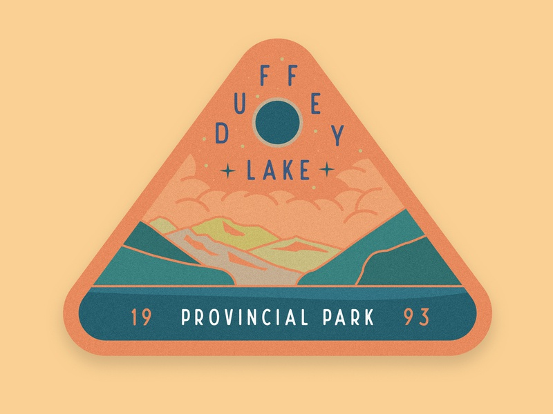 Duffey Lake Provincial Park typography illustration mountain badge graphic design dribbble collage vancouver squamish sticker illustrator
