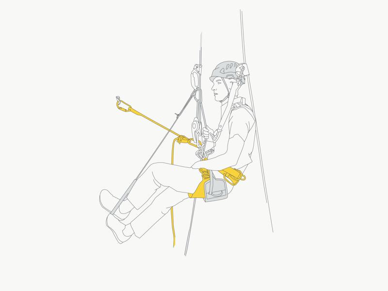Technical illustration technical illustration petzl rock climbing climbing illustration graphic design