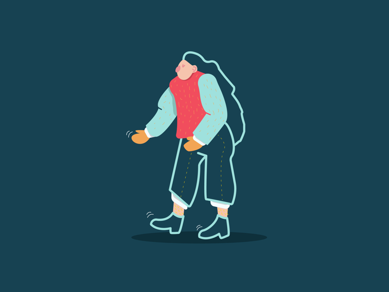 Groovin' dance person design groove character illustration