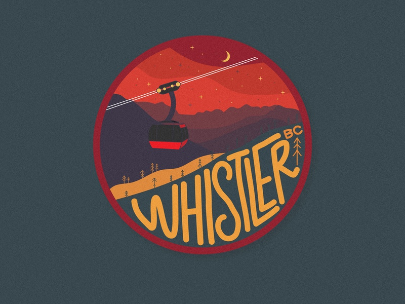 Whistler whistler mountain badge vancouver sticker squamish illustrator graphic design illustration