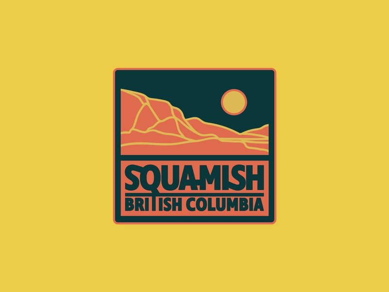 Patch for Squamish lettering typography cabin graphic branding design mountain badge sticker squamish illustrator vancouver graphic design illustration