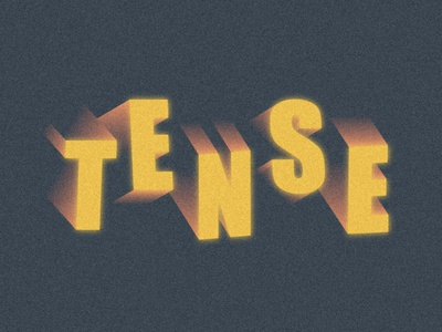 Tense design illustrator vancouver graphic design lettermark tense grainy texture lettering illustration