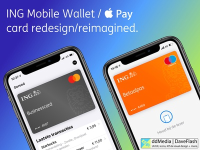 ING NL Wallet / Apple Pay card Redesign