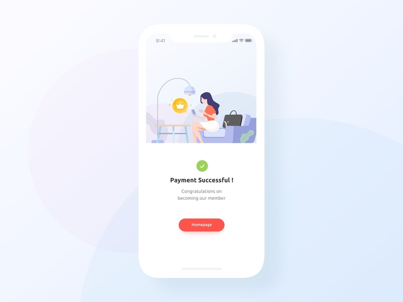 UI practice - Payment successful payment vector illustration graphic ui