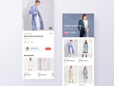 E-Commerce App UI Design mobile branding buy wardrobe closet shopping interface app apparel clothes outfit fashion ecommerce design ui