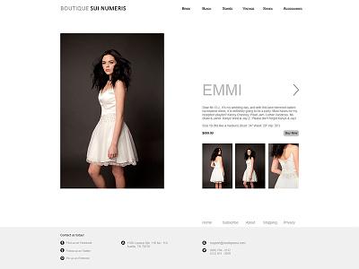 Boutique Sui - Detail Page detail website fashion boutique