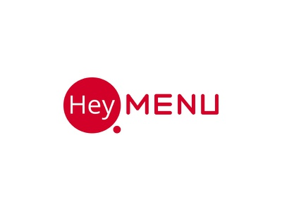 HeyMenu Logo digital menu restaurant logo menu hey