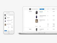 Shopping cart responsive design