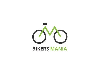 Bikers Mania biker bike logo