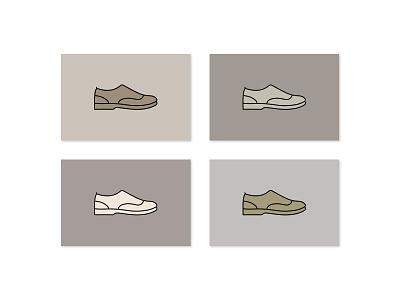 Icon color study color shoe icon