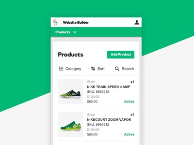 Product List admin store online list product