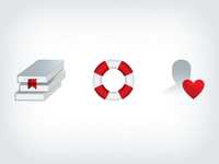 Red and Gray Icons