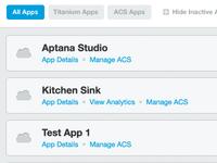 App Management Dashboard