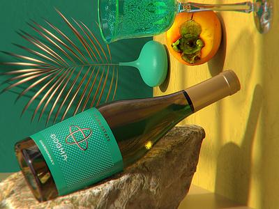 Wine art impression
