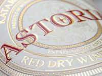 Astoria label Closeup