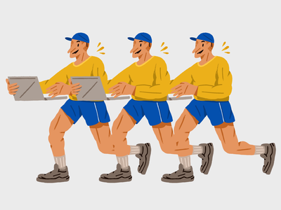 Running's illustrator editorial illustration illustration