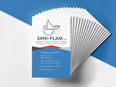 Sani-Flam Business Cards