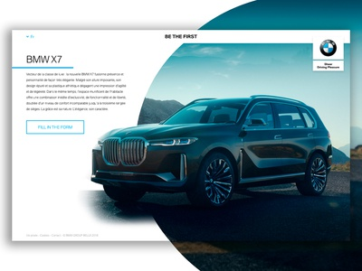 BMW Be The First - X7