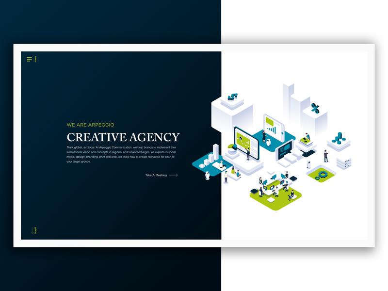 Arpeggio - Website communication creative  design creative agency vector ux-ui blue website ux design ui design creative design graphic ux  ui ui ux