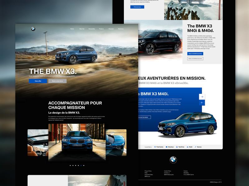 BMW X3 - Part 3 parallax creative design graphic ux  ui desktop bmw car ux-ui website ux design ui design ui ux