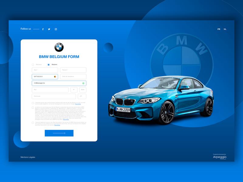 BMW Form circle form blue creative design graphic communication bmw ux  ui desktop car ux-ui website ux design ui design ux ui