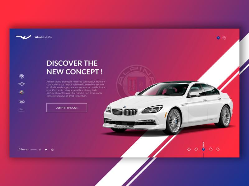 Alpina - Splashpage Car Dealer #1 alpina ux  ui desktop car ux-ui website ux design ui design ux ui creative design graphic