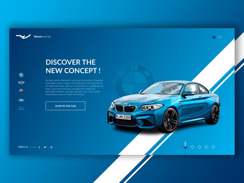 BMW - Splashpage Car Dealer #2 bmw ux  ui blue car desktop ux-ui website ux design ui design ui ux creative design graphic