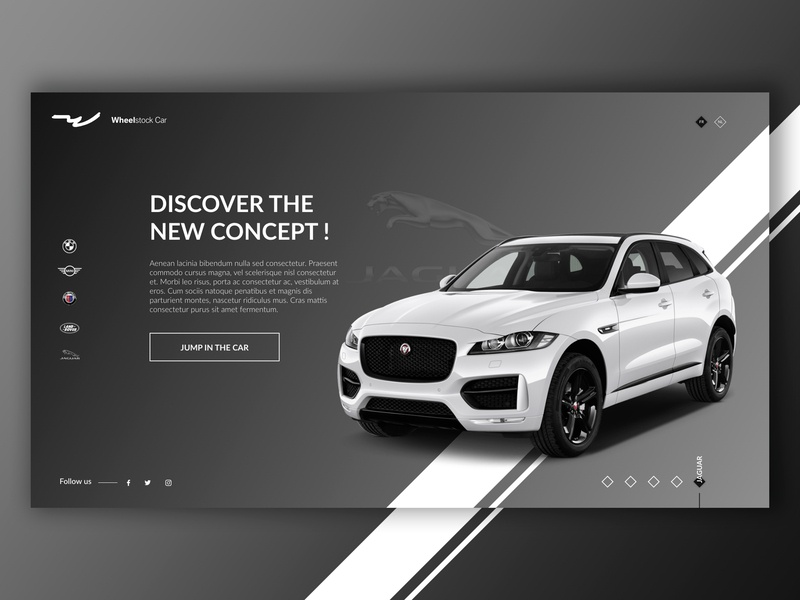 Jaguar - Splashpage Car Dealer #3 ux  ui jaguar grey car desktop ux-ui website ux design ui design ux ui creative design graphic