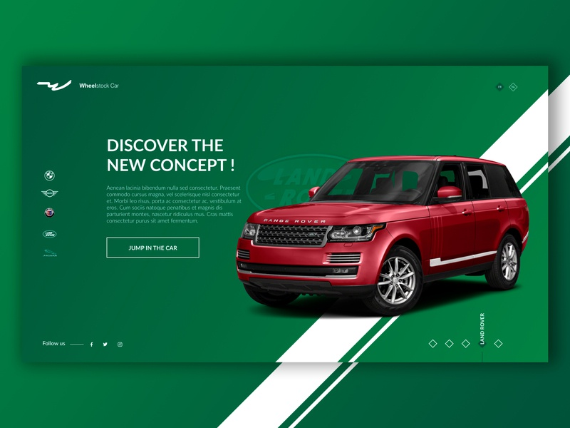 Land Rover - Splashpage Car Dealer #4 red communication landrover green ux  ui car desktop ux-ui website ux design ui design ux ui creative design graphic