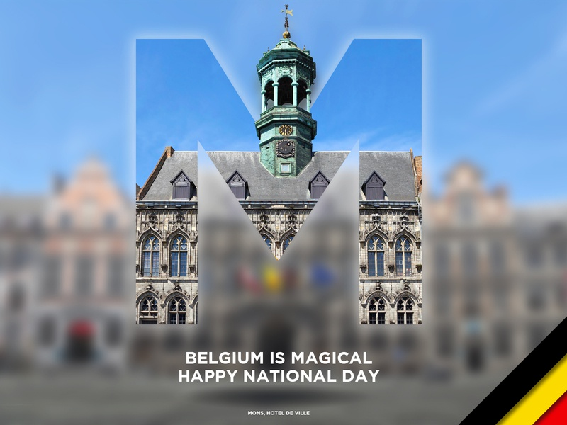 Belgium is Magical #7 capital letters letters letter day national graphic design creative magical mons red yellow black national day belgium