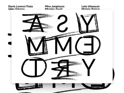 Asymmetry - Typography Poster Experiment
