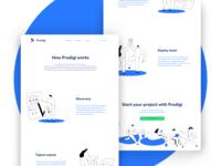 Prodigi.team - Desktop design (inner page)