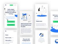 Prodigi.team - Mobile design