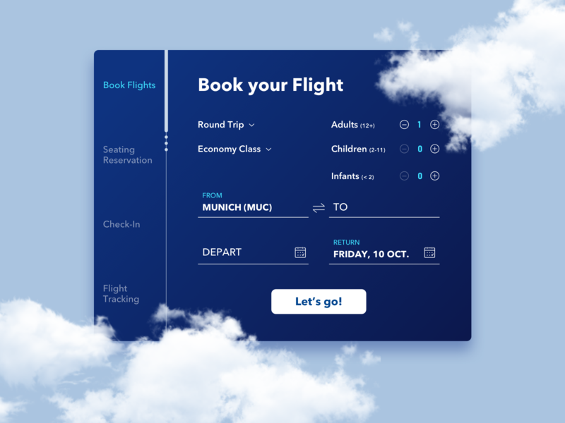 Flight booking / Concept