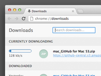 Chrome - Redesigned Downloads Tab