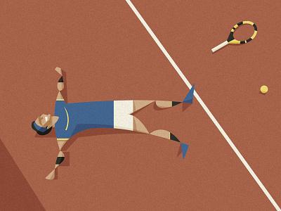 La Decima minimal grand slam spain paris championship sport red digital art illustration roland garros tennis nadal