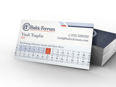 Baltic Ferrum business card business card