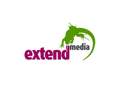 Extend media logotype logotype design logotype
