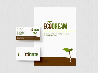 Ecodream logotype and brochure brochure print design logotype