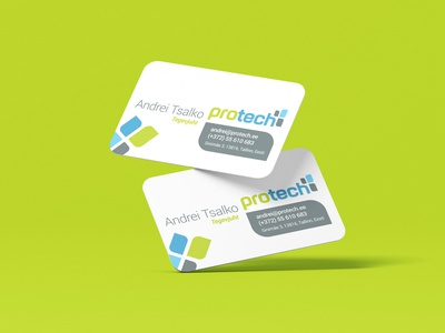 Protech business card identity trendy fresh logodesign logo logotype business card