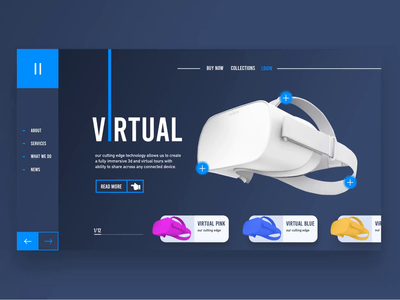 Virtual Glasses Web design