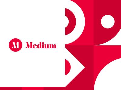 Experimental logo design for Medium