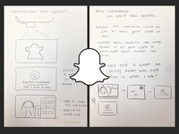 Snapchat for Google Glass Sketches