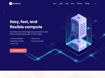 Web Hosting Demo - Saasland   MultiPurpose WordPress Theme landing page wordpress theme web design theme design uiux ux design landing page design website design ui design ux