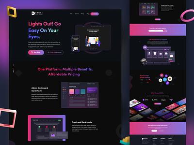 Droit Dark Mode Plugin - Landing Page night mode typography web app black ui nft graphic design landing page figma dark mode wordpress web design web