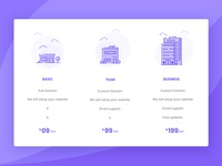 Creative & Clean Pricing Plan Design