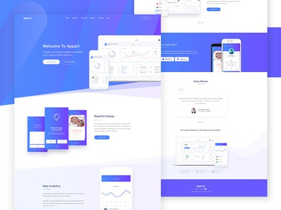 Appart - App Landing Page (Upcoming WP Theme)