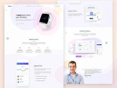 Appart - App Landing Page - 2 minimal designinspire websites uidesignideas uidesigner designer webdesigner uxdesign uidesign webdesign user experience user interface ui